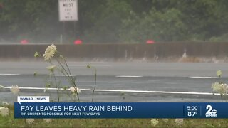 Heavy rain from Tropical Storm Fay on the Eastern Shore
