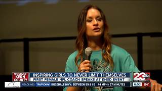 KHSD hosts an event for high school girls across Kern County with guest speaker Jen Welter - Video