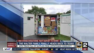 Family returns to Texas with trailer full of donations - Video