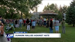 Dunkirk rallies against hate - Video