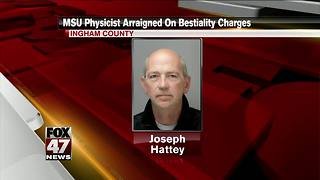 MSU Health Physicist charged with 2 counts of bestiality - Video