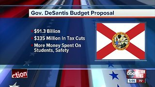 Governor DeSantis announces $91.3 billion budget proposal, $335 million in tax cuts