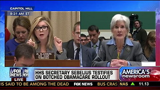 Sebelius asks to be held responsible - Video
