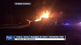 Child, adult injured in early morning house fire