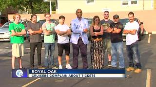 Cruisers complain about tickets in Royal Oak - Video