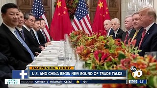 U.S. and China start new trade talks