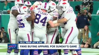 Fans flocking to stores for Buffalo Bills gear - Video