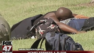 Homeless don't get enough sleep - Video