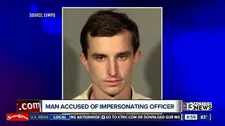 Man arrested after posing as cop - Video