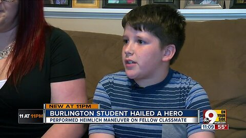 Burlington 10-year-old 'hero' after saving choking classmate