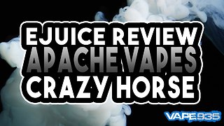 Apache Vape - Crazy Horse Ejuice Review - Strawberry & Lime Flavoured Eliquid - Video