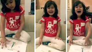 Adorable four-year-old explains the parts of a rocket - Video
