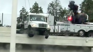 Truck Pulled From I-4 Overpass After Hanging More Than an Hour