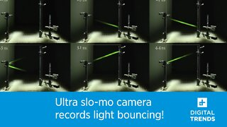 Ultra slo-mo camera records light bouncing!