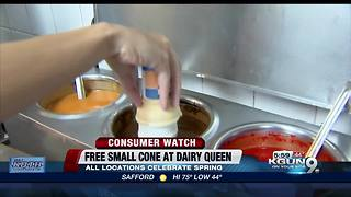 Dairy Queen spring for one free ice cream cone - Video