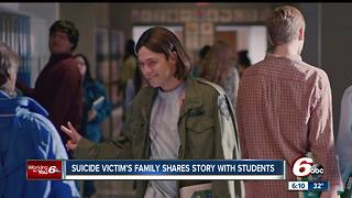 Suicide victims family shares story with Indiana students - Video