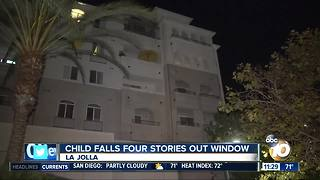 Child in intensive care after fall from apartment window - Video