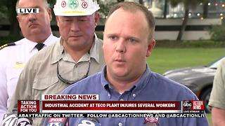 Officials give update on industrial accident at TECO plant - Video