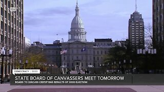 State Board of Canvassers meet tomorrow to discuss 2020 election results