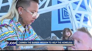 One Barbers Mission to help the homeless - Video