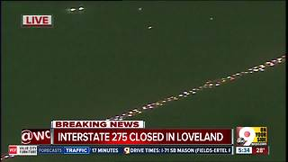 Westbound I-275 closed near Loveland Madeira Road by 2-car crash - Video