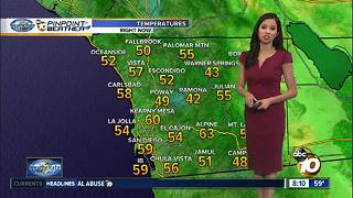10News Pinpoint Weather for Saturday, Nov. 11, 2017 - Video
