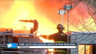 Early-morning fire damages Kenosha Education Association building - Video