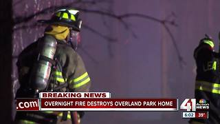 Fire damages home in Overland Park - Video
