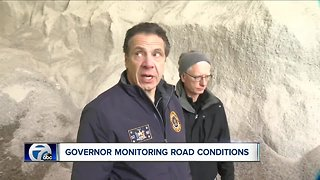 Governor Cuomo tours ice covered roads