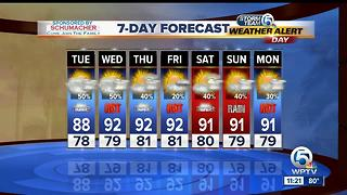 Monday night/Tuesday morning forecast - Video