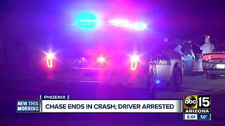 Driver arrested after police pursuit in Phoenix - Video