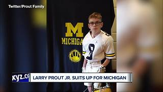 Michigan football's Larry Prout Jr. ready for season after enduring tough summer of surgeries - Video