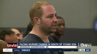 Man facing murder charge for son in court - Video