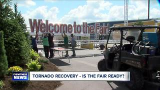 After tornado, is the Fair ready for opening day? - Video