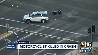 Motorcyclist killed in east Phoenix crash - Video