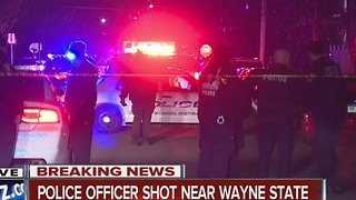 Wayne State University police officer shot - Video