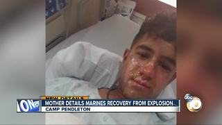 Mother details Marines recovery from explosion - Video