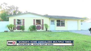 Vandals target woman's North Fort Myers home multiple times - Video