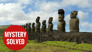 The mystery of how Easter Island statues red hats have been solved - Video