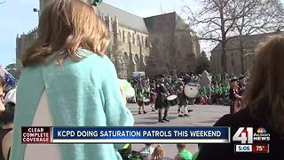 KCPD doing saturation patrols during St. Patrick's Day weekend - Video