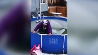 Epic Winter Pool Fail - Video