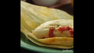 Tamales Stuffed with Cheese