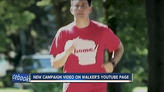Walker rides Harley, jogs in new video touting record - Video