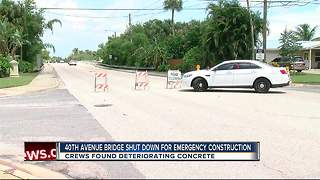 40th Avenue Bridge in St. Pete to close for two weeks for emergency repairs - Video