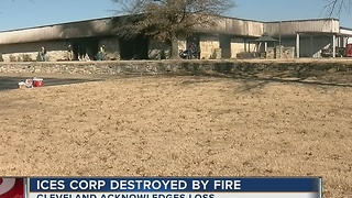 ICES Corporation fire puts 35 people without jobs. - Video