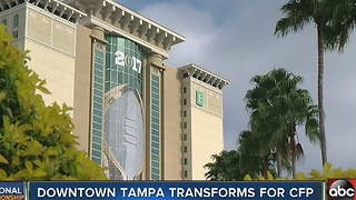 Downtown Tampa transforms for CFP - Video
