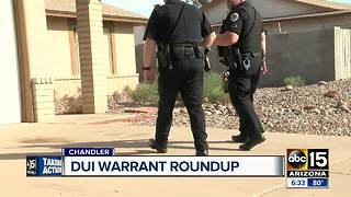 Chandler PD conducting DUI warrant roundups - Video