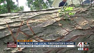 KCK firefighters helps one of their own after storms damage house - Video