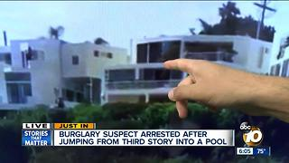 Man in custody after jumping from Del Mar home into pool - Video