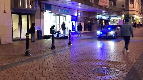 Watch: Beat boxing police car honks in time with street performer